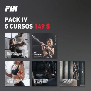 Pack 4 de 5 cursos
